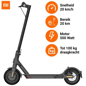 "Xiaomi - Mi Electric Scooter Essential - Opvouwbare Elektrische Step - 250w Motor - 20km/h Top Snelheid - 20km Bereik - 8.5"" Luchtgevulde Banden"