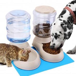 Pet feeder set , Voerbak + waterbak huisdier Kat/Hond