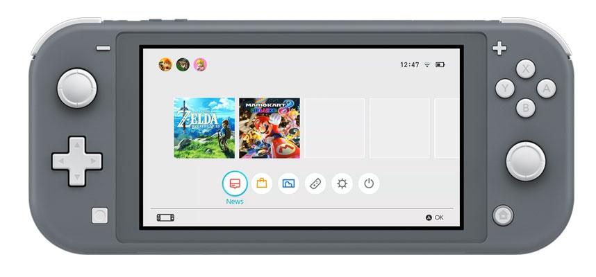 Nintendo Switch Lite grijs kleur